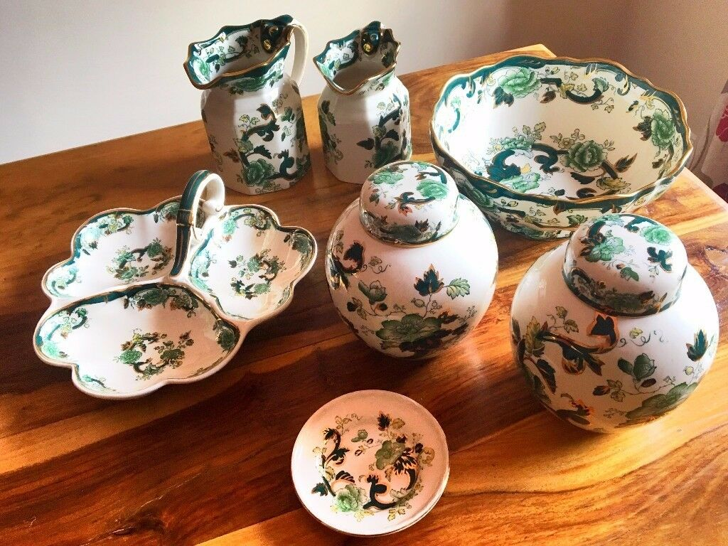 Mason's Ironstone Chartreuse Pottery Collection