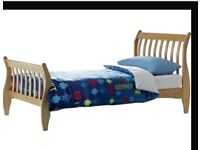 Thinkin of selling single pine sleigh bed, excellet condition, buyer to collect.