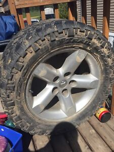 Dodge rims wrapped in nitto grapplers
