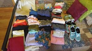 Lot of women- girls cloths m/l and 8 girls