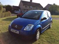 Citroen C2 1.1cc Petrol Registered October 2005 low mileage , one lady owner