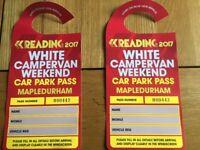 Reading festival weekend campervan passes x2