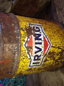 Old Irving oil tin