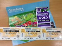 x3 Gold SOLD OUT 3 day camping tickets + Car pass