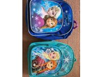 2x girls frozen back packs