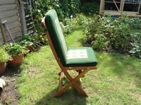 Six garden chairs