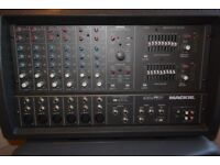 Mackie Mixer amplifier and Peavey sub