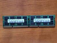 4GB Samsung Laptop Memory RAM (2 x 2GB Sticks) DDR3 1066 from MacBook Pro 15 2008 Working Order