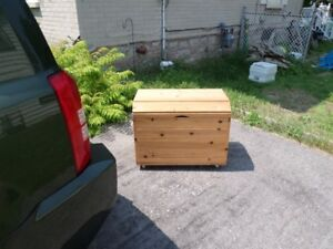 All wood chest.