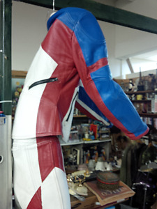 Retro Leather Racing Suit