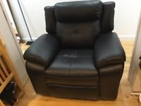 Real leather recliner armchair - could deliver *reduced*