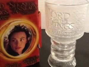 Lord of the rings-collectable glass goblet