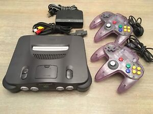 N64 console with 2 controllers