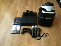 Complete playstation with vr glasses