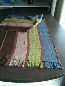 SALE 50% off Long Wide Scarf or Table Runner Alpaca Silk, soft