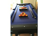 Very good condition 6 foot x 3.3 feet Pool Table with ball returner
