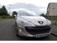 PEUGEOT 308 SPORT STATION WAGON 2008 1.6 HDI DIESEL 7 SEATER FANTASTIC CONDITION INSIDE AND OUT