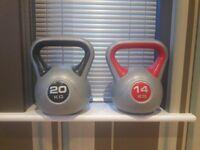 20kg and 14 kg kettlebell