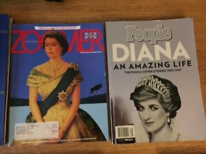 Lot of 13 asst British/Royal Family related reading items