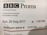 X2 BBC Proms 47 Tickets at Royal Albert Hall