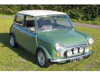 Classic Mini in immaculate condition, no rust, fully re-trimmed interior, 100% reliable