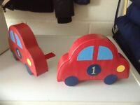 Leather car book ends. As new condition £10
