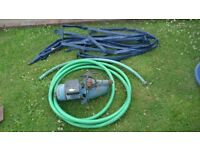 Electric Water Pump, 33l/min with hoses and fittings
