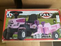Child's pink ride on tractor brand new