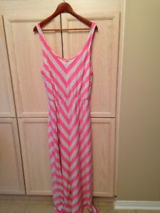 Maxi dress... Pink and Gray.. size XL  $20