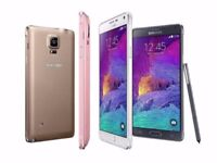 SAMSUNG GALAXY NOTE 4 32GB UNLOCKED MINT CONDITION COMES WITH SHOP WARRANTY AND ACCESSORIES