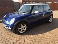 2002 MINI COOPER 1.6 MANUAL 3 DOOR HATCHBACK PETROL, 88k