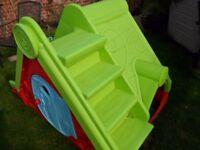 Childrens/Toddler/baby's garden slide/playhouse