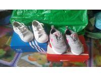 X2 Childrens junior trainers