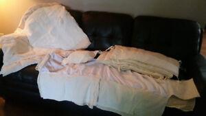 Beige crib set bedding
