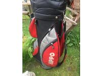 Hippo Golf Bag With Set Of Titleist Golf Irons