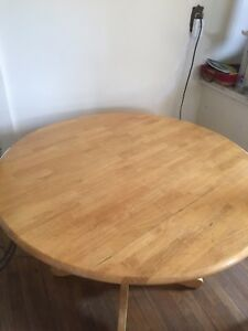 Round Wooden Table & Chairs