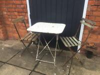 French garden furniture set a table and 2 chairs