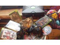 Xbox console bundle with Unleash X software with emulators /retro games for sale or trade