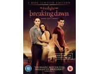 Twlight Movies 1-3 & Breaking Dawn Part 1 Dvds Brand New Sealed