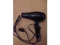PHILIPS SALONDRY PRO 2300W HAIR DRYER w/ ACCESSORIES