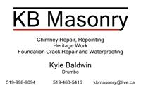 Masonry and Chimeny Repairs