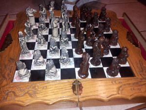 Jeux d'échec en marbre