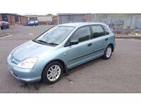 ** Automatic** 2003 Honda Civic S Auto 1.6 Petrol 5 Door Full Service History.....