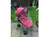 Mamas and papas stroller with rain cover and footmuff like new