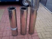 log burner flue 7 inch outer and 5 inch inner stainless steel