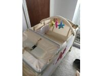 Travel cot bed plus mattress