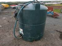 Titan 1300 litre diesel storage tank with filling nozzle tractor digger etc