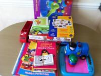 Nana's toys lidded toy box and step stool see all pics