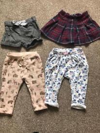 Baby girl bottoms bundle
