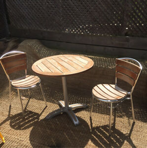 Commercial Teak table and chairs